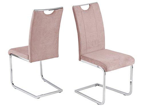 möbelando Schwingstuhl Esszimmerstuhl Stuhl-Set Küchenstuhl Stuhl Southend I (4-er Set) Flamingo