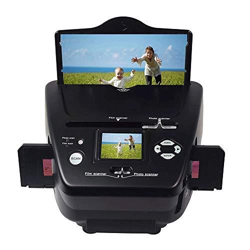 QCHEA all-in-One Photo & Film Scanner, 35mm / 135 Negativo Diapositive Alta Photo Scanner risoluzione, Foto Carta di Nome Film di Digital Converter for Save in SD