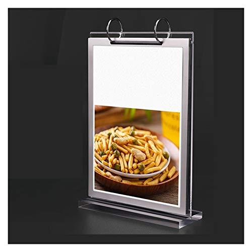 DALIZHAI2021 Soporte de Signo de acrílico con Soporte de menú Transparente de PVC para Tablas Contador de Cartel Signo de Muestra Soporte para la Tienda de restaurantes Compañía (Size : 21 * 29.7cm)
