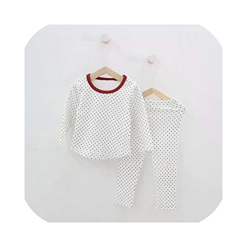 Feing - Set composto da top e pantaloni a pois bianco 8 anni