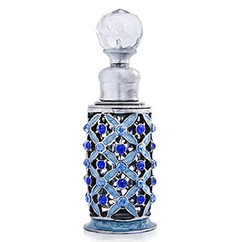 Bouteille Flacon de Parfum Flacon de Parfum Vintage Flacon de Parfum décoratif Vintage de Parfum Vintage Petit Diamant Bleu (Color : Blue, Size : 1.18 * 1.18 * 3.5 inch)