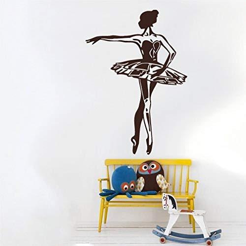 BailongXiao Rahmenlos-Elegante Ballerina Kinderzimmer Mädchen Wandaufkleber Home Decoration Bal