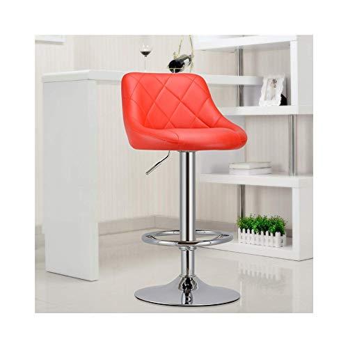 FENPING-Barstühle Barhocker, Bar 360 ° Drehstuhl Hebe Rückenlehne Hoher Drehstuhl Home Hochbarstuhl Bar-Drehstuhl Lounge Stuhl (Color : Red)