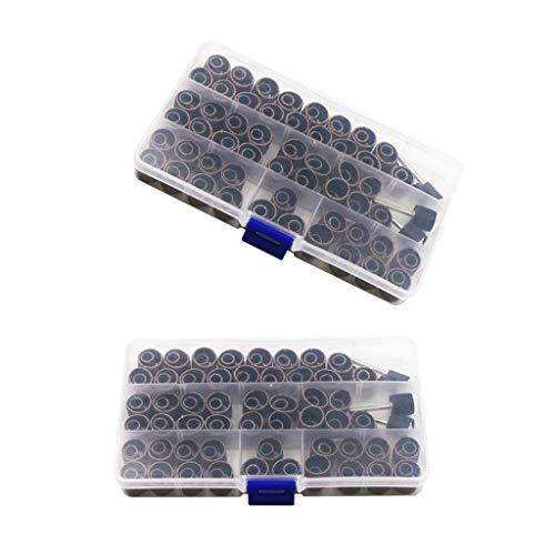 DYNWAVE 2 Conjuntos 104 Unidades de Lixa de Fita de Lixa para Anéis de Tambor E Kit de Abrasivo para Broca de Unhas