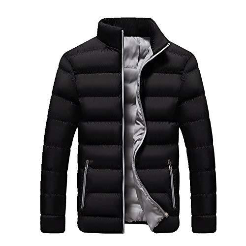 Otoño e invierno de los hombres cuello de pie engrosada chaqueta acolchada de algodón
