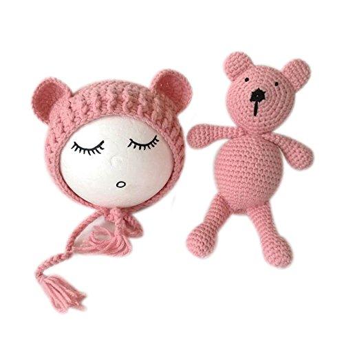 neonato fotografia puntelli foto Outfits Boy Girl Hat Bear set