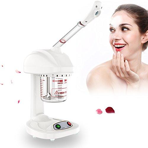 Vapeur ionique pour le visage, tête de pulvérisation rotative à 360 °, vapeur pour le visage du sauna pour le visage, ouvrir les pores de peau