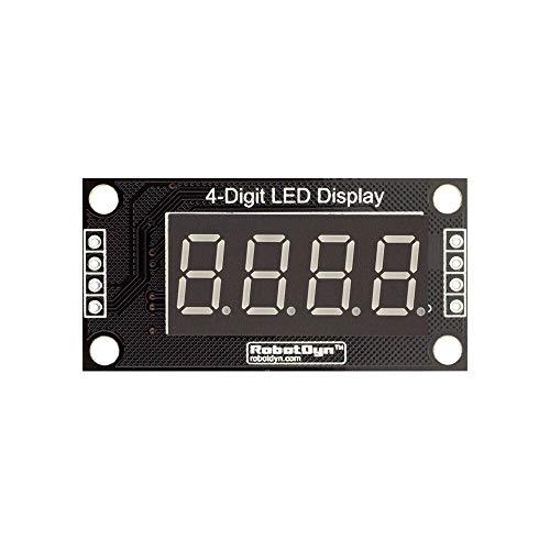 Elektronisches Modul 0,36-Zoll-4-stellige LED-Anzeige Rohr 7-Segmente TM1637 30x14mm Gelb Dezimalpunkteinstellung Modul 5pcs