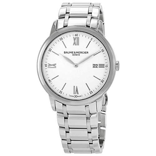 Baume et Mercier 10526 - Reloj de cuarzo con esfera blanca para hombre