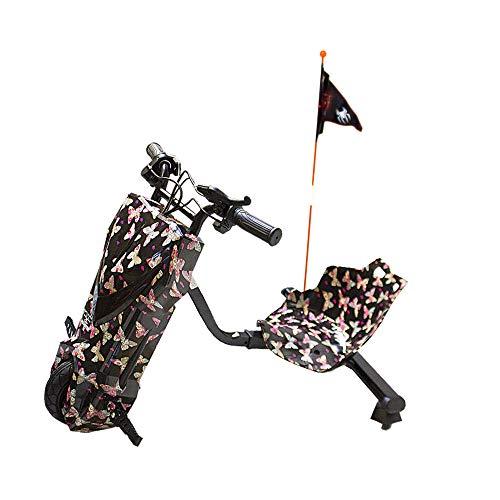 Gran Scooter mit Stuhl Boogie Drift Pro (Motor 120 W, Lautsprecher, 3 Geschwindigkeiten, Kippschutz, Bremse, Fahrrad Max. 15 km, Vorderlicht, LCD-Display, doppelte Akku) – Rot