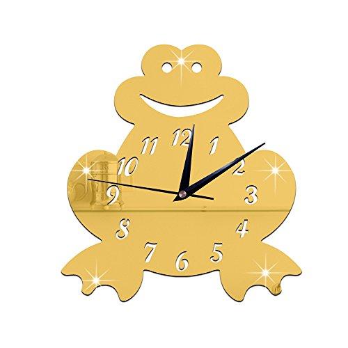 Digitale Spiegeluhr Wanduhr Uhr Freizeit Arbeitszimmer Schlafzimmer Wand Wasserdicht 1362