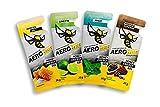 AEROBEE Energy Gel Probierpaket 4 x 26 g | Honey & Salt, Limette, Minze, Kakao & Guarana | 100% Natürliche Energie aus Honig für Ausdauersport | Sehr Bekömmlich