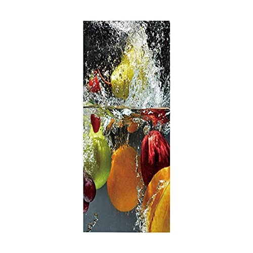 tzxdbh vinilos escaleras Frutas salpicaduras naranjas 100CMx18CMx6pieces(39.3'w x 7'h x 6pieces) Impermeable Etiqueta de la pared extraíble Pegatinas Adhesivos Autoadhesivos Dormitorio del Hogar