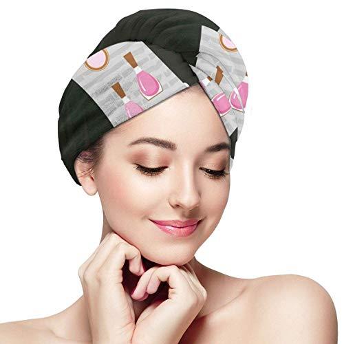 N/A Haar Handdoek Wrap Turban Microvezel Snelle Droog Badcap, Zwart Smart Cocktail Jurk Parfum Make Up Koppelingstas
