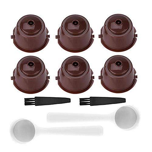 Paquete de 6 cápsulas de café reutilizables recargables para máquina Nescafe Dolce...