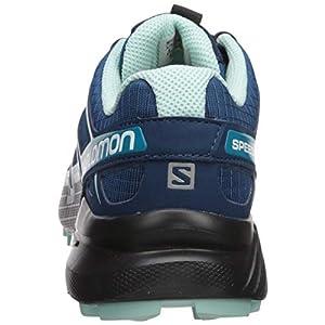 Salomon Women's Speedcross 4 Trail Running Shoes, Poseidon/Eggshell Blue/Black, 8.5 Wide