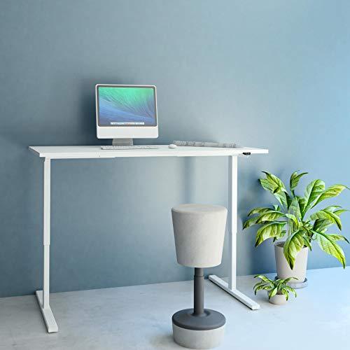 PROFI elektrisch höhenverstellbar Schreibtisch EASY 180x80cm Motortisch LINAK, Gestellfarbe:Weiß