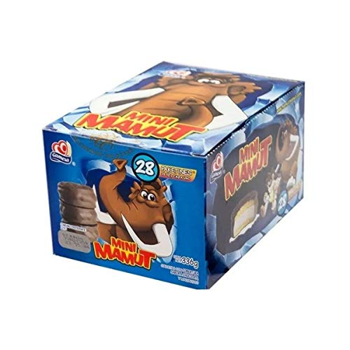 Mini Mamut by Gamesa with 28 Small Packs   Cookies Covered with Chocolate