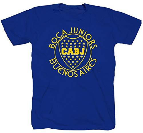 Boca Juniors Jugador Ultras Curva Brigata Maglietta da calcio Ultra Derby T-shirt shirt blu XXL