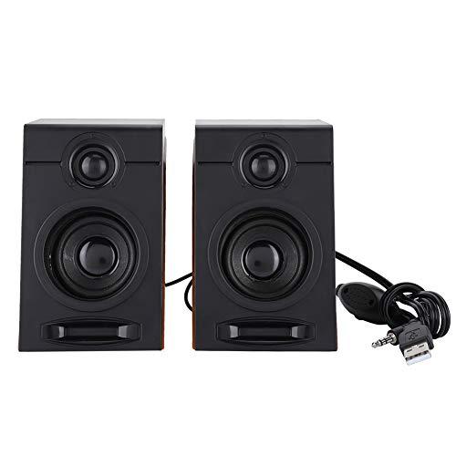 Vipxyc Computerlautsprecher, 3in großer Lautsprecher mit schwerem Bass, Computer-Subwoofe mit Geräuschunterdrückung für Fernsehgeräten, Computern, Tablet-PCs