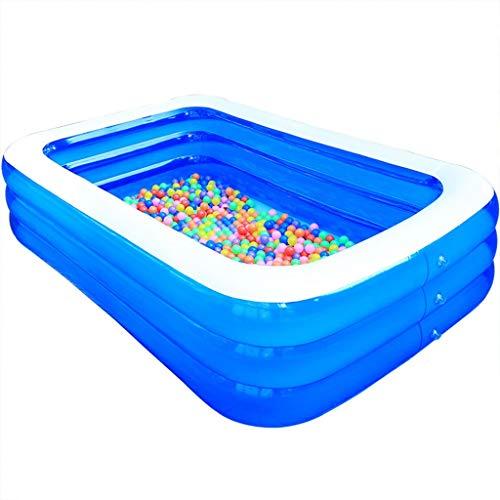 YAWJ Aufblasbarer Pool, Planschbecken Jugendliche Erwachsene, Kleiner Family Pool rechteckig for Erwachsene Garten Outdoor (Color : Blue, Size : 2.6M)