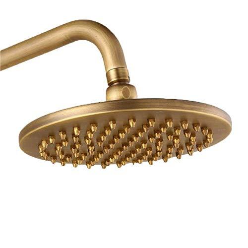 8 inch ronde vintage retro badkamer regendouche hoofd antieke brons koper slang bovenste douche sproeier badkamer enkele hoofd gereedschap Antiek