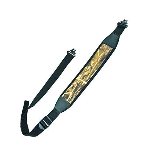 EWQK Táctica Ajustable Pistola Rifle Pistola Sling con Sling Sling Sling Swivels Quick Sling Sirva la Correa de la Correa del Hombro para la Caza de Airsoft Accesorios de Caza