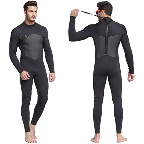 Traje de Neopreno para Hombre Traje de Neopreno de 1,5 Mm Costuras de Alta Elasticidad Surf Cálido Equipo de Buceo Ropa de Medusas Traje de Neopreno de Manga Larga,Xlarge