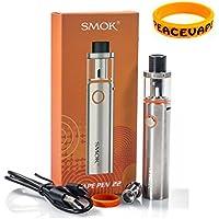 AUTÉNTICO SMOK VAPE PEN 22 Cigarrillo electrónico 1650 mAh (Plata) con PEACEVAPE ™ Vape Band Sin Tabaco - Sin Nicotina
