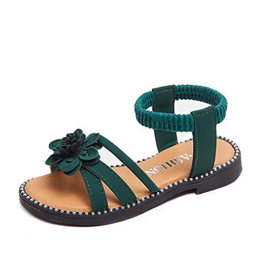 YWLINK Sandalias De Verano NiñA Antideslizante Zapatillas De Playa Zapatos De Princesa De Flores Comodo Zapatos Planos Vestido De Fiesta Zapatos Casuales Regalo De CumpleañOs