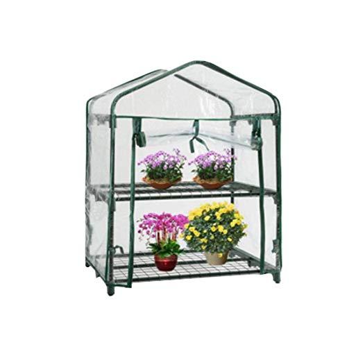 su-luoyu Mini invernadero con cubierta protectora resistente al agua y a los rayos UV, transparente, PVC, con puerta para enrollar, vivero, invernadero para tomates, verduras, flores, frutas, jardín
