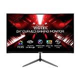 VIOTEK NBV24CB2 24-Inch Curved Monitor, 75 Hz Full-HD Frameless Monitor for Home, Office & Gaming |...