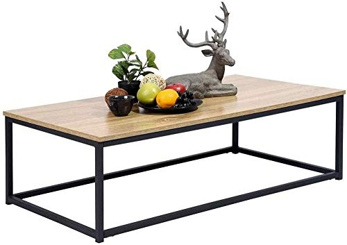 MEUBLE COSY, Table Basse Design Moderne, Madera, Roble, 110 X 60 X 34 Cm