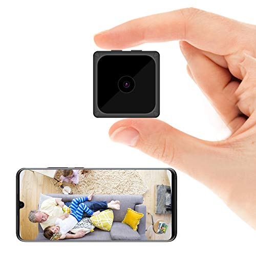 ODLICNO Cámara de Seguridad WiFi Inalámbrica Cámara Oculta HD 1080P Mini Cámara Secreta Cámara de Niñera Grabadora de Video en Interiores Activada por Movimiento/Visión Nocturna
