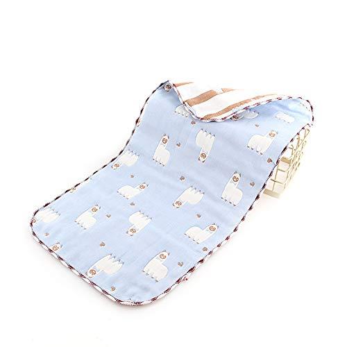 Alimagic Katoen Pasgeboren Babyhanddoeken Herbruikbaar Wasbaar Katoen Baby Bibs 5-laags Absorberende Babymaaltijd Voeding Saliva Handdoek ()