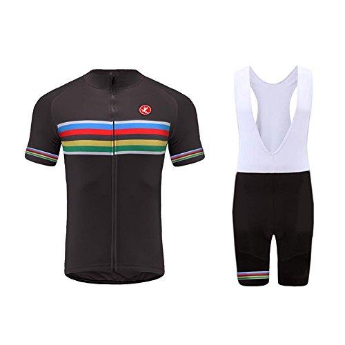 UGLY FROG Maillot Ciclismo Hombre Manga Corta Conjunto Pantalones Ropa Bicicleta Respirable/Downhill Jersey Ropa de MTB Motocross Secado Rápido