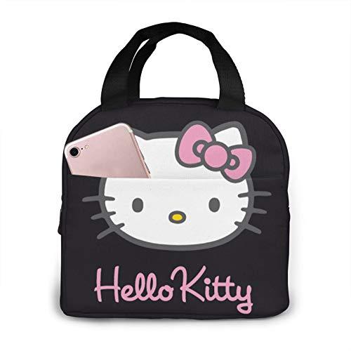 Lonchera con aislamiento de Hello Kitty, para almuerzo, para mujer, hombre y niños