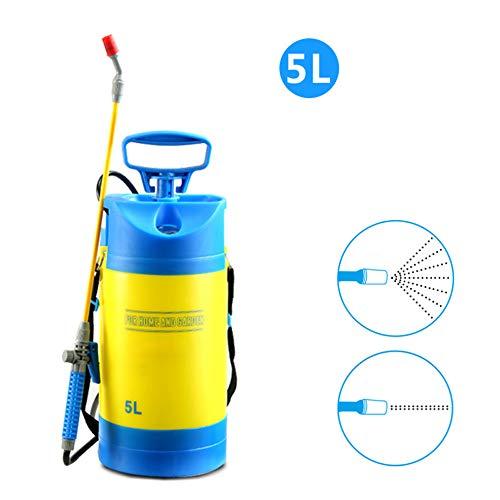 AKBQ La Bomba del Pulverizador De Presión 1.3 Galón 5L Jardín Pulverizador con Correa para El Hombro para Herbicidas, Fertilizantes, Productos De Limpieza Suaves Y Lejía