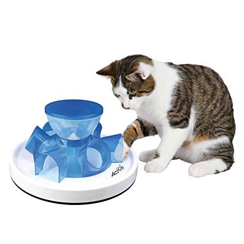 Trixie Alimentatore a tunnel per gatti,Multicolore (Marrone/Bianco)