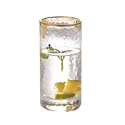 DLILI Vasos para Beber Jugo de Agua HARLIANGXY, 300 ml, Vidrio de Cristal, hogar, restaurantes y Fiestas, Apto para lavavajillas y microondas