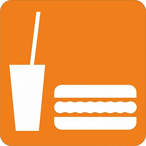 Aufkleber: Piktogramm Essen und Trinken - Aufkleber 150 x 150 mm nachleuchtend