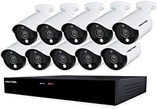 Night Owl CCTV Video Home Security Camera System with 10 Wired 5MP HD Indoor/Outdoor Cameras with Night Vision (Expandable up to a Total of 16 Wired Cameras) and 2TB Hard Drive