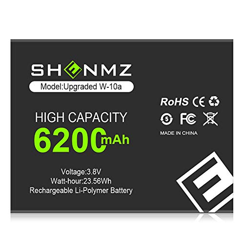 [6200mAh] W-10A Battery,New 0 Cycle Higher Capacity Replacement Battery for Netgear MR1100 AT&T Nighthawk M1 LTE Mobile Hotspot Router [3 Years Warranty]