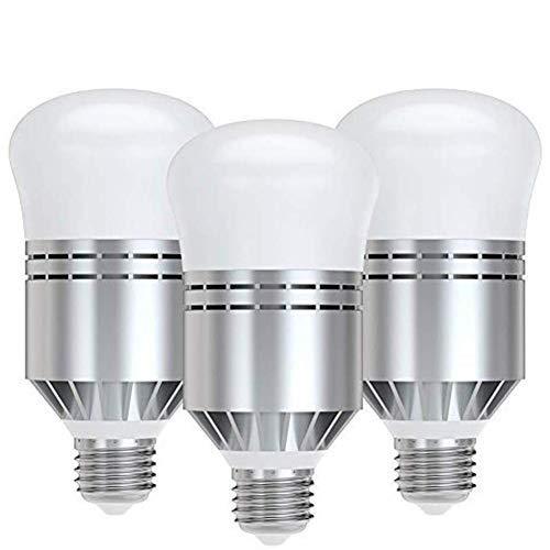 Bombilla LED E27 Bombilla Crepuscular 12W Bombillas de LED con Auto Encendido/Apagado Lámpara de Lluminación Exterior/Interior para Garaje, Escaleras, Pasillo, Patio 3 piezas