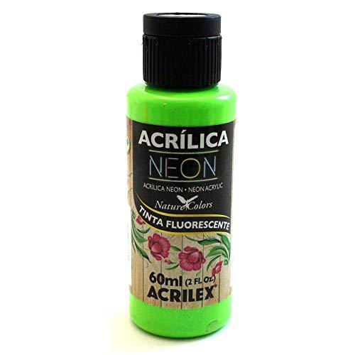 ACRILEX NEÓN Pintura ACRÍLICA Fluorescente Color Verde 60 ML (101 Verde)