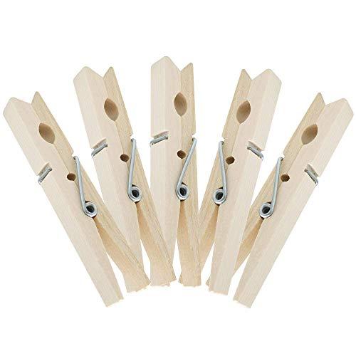 Houten Pegs Groot, 7,2 cm Foto Pegs Houten Clips, 100 Stks Craft Pegs Foto Pins Houten Clips voor DIY Arts&Crafts