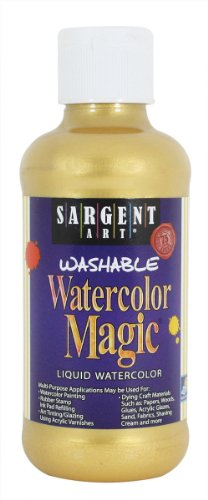 Sargent Art 22-6081 8-Ounce Watercolor Magic, Metallic Gold