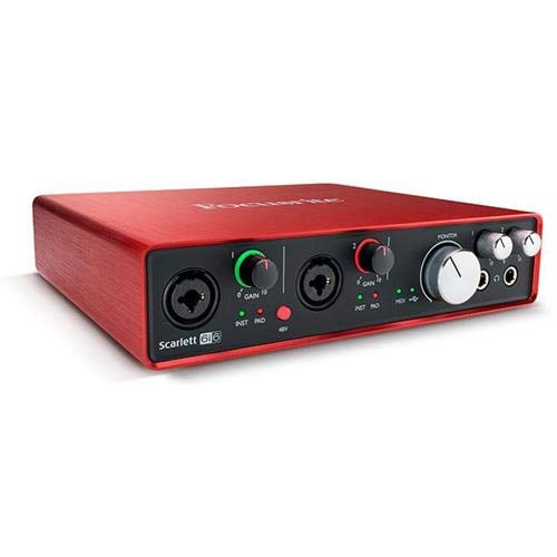 Focusrite Scarlett 6i6 Second Generation (2nd Gen) 6 In/6 Out USB 2 0 Audio  Interface with Pro Tools | First and 1 Year Free Extended Warranty