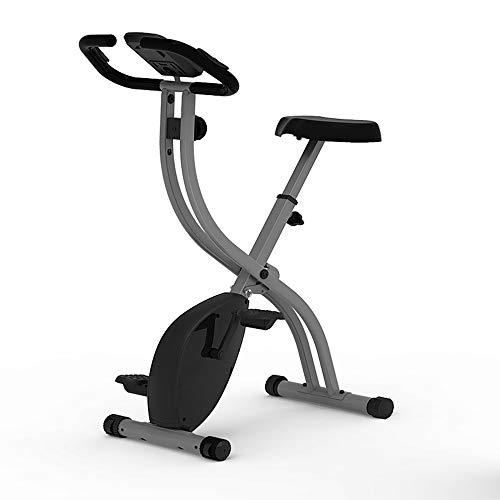 STCRY Bicicleta Estática Plegable Magnética Indoor Bike Profesional estática Pedal Silencioso Bicicleta de Resistencia