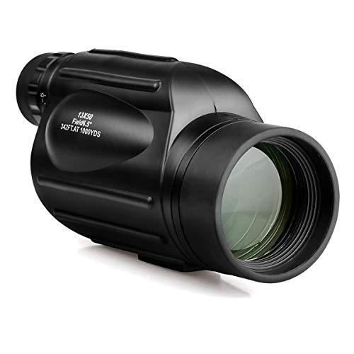 Monocular 13X50 SV49 High Power Verrekijker Waterdichte telescoop voor Wandelen Jacht Camping Vogels kijken Toerisme,Black
